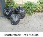 garbage bag. waste management... | Shutterstock . vector #751716085