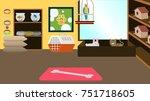 pet store interior background...   Shutterstock .eps vector #751718605