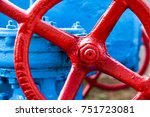 Red Valve On The Blue Pipe....