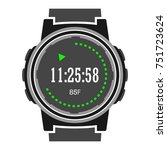 hiking watches icon. handwatch... | Shutterstock .eps vector #751723624