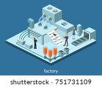 isometric 3d illustration... | Shutterstock . vector #751731109