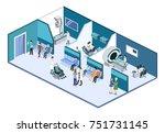 isometric 3d illustration... | Shutterstock . vector #751731145