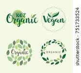 organic vector logo set   Shutterstock .eps vector #751733524