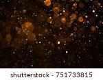 orange bokeh background   Shutterstock . vector #751733815