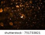 orange bokeh background   Shutterstock . vector #751733821