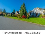 big custom made luxury house at ... | Shutterstock . vector #751735159