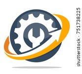 logo icons for mechanical... | Shutterstock .eps vector #751738225