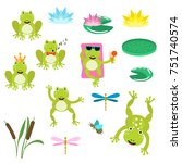 frogs cartoon clipart vector... | Shutterstock .eps vector #751740574