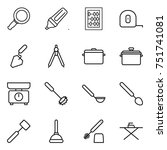 thin line icon set   magnifier  ... | Shutterstock .eps vector #751741081