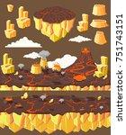 isometric level game landscape... | Shutterstock .eps vector #751743151