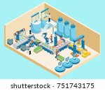 isometric dairy plant template... | Shutterstock .eps vector #751743175