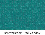 beautiful geometric pattern... | Shutterstock .eps vector #751752367
