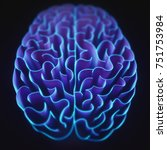 Stock photo  d illustration walls shaped like a brain in a maze with no way out 751753984