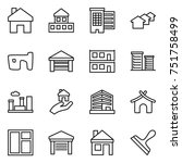 thin line icon set   home ... | Shutterstock .eps vector #751758499