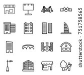 thin line icon set   shop ... | Shutterstock .eps vector #751758565