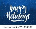 vector handwritten elegant... | Shutterstock .eps vector #751759351