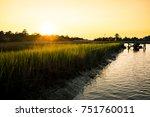 wooden pier in south carolina... | Shutterstock . vector #751760011