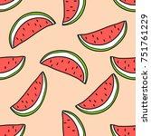 vector seamless pattern of... | Shutterstock .eps vector #751761229