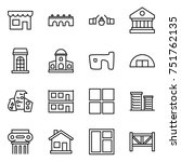 thin line icon set   shop ... | Shutterstock .eps vector #751762135