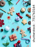 christmas or new year colorful... | Shutterstock . vector #751763164
