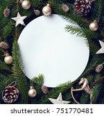 creative frame of christmas... | Shutterstock . vector #751770481