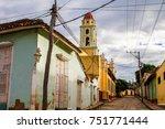 cuban street  trinidad  cuba | Shutterstock . vector #751771444