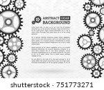 mechanism with integrated gears ... | Shutterstock .eps vector #751773271