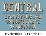 decorative vector vintage retro ... | Shutterstock .eps vector #751774459
