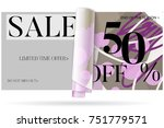 sale advertisement banner on... | Shutterstock .eps vector #751779571