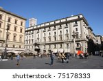 florence   october 10  tourists ... | Shutterstock . vector #75178333