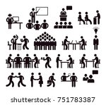 workplace concept  pictogram... | Shutterstock . vector #751783387