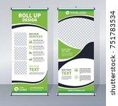 roll up sale banner design... | Shutterstock .eps vector #751783534
