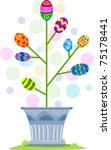 illustration of easter eggs in... | Shutterstock .eps vector #75178441
