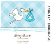 baby shower invitation template ... | Shutterstock .eps vector #75178519
