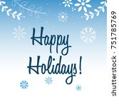 merry christmas and happy new... | Shutterstock .eps vector #751785769