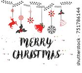 merry christmas and happy new... | Shutterstock .eps vector #751786144