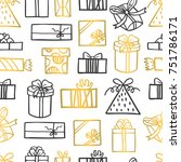 seamless vector pattern with... | Shutterstock .eps vector #751786171