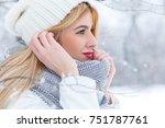 Winter Portrait Of Beautiful...
