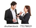 two young business people... | Shutterstock . vector #75178819