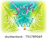 jingle all the way. merry... | Shutterstock .eps vector #751789069
