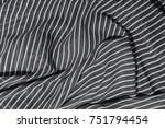 wrinkled fabric texture.... | Shutterstock . vector #751794454