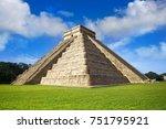 chichen itza pyramid el templo... | Shutterstock . vector #751795921