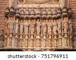 santa maria de montserrat is a... | Shutterstock . vector #751796911