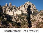 santa maria de montserrat is a... | Shutterstock . vector #751796944