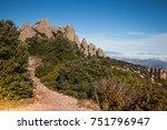 santa maria de montserrat is a... | Shutterstock . vector #751796947