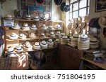 shop selling panama hats in... | Shutterstock . vector #751804195