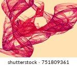 abstract fractal illustration.... | Shutterstock . vector #751809361