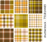 set of plaid seamless pattern... | Shutterstock .eps vector #751814485