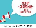 santa claus's hand holding... | Shutterstock .eps vector #751814731