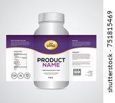 Package template design, Label design, mock up design label template | Shutterstock vector #751815469